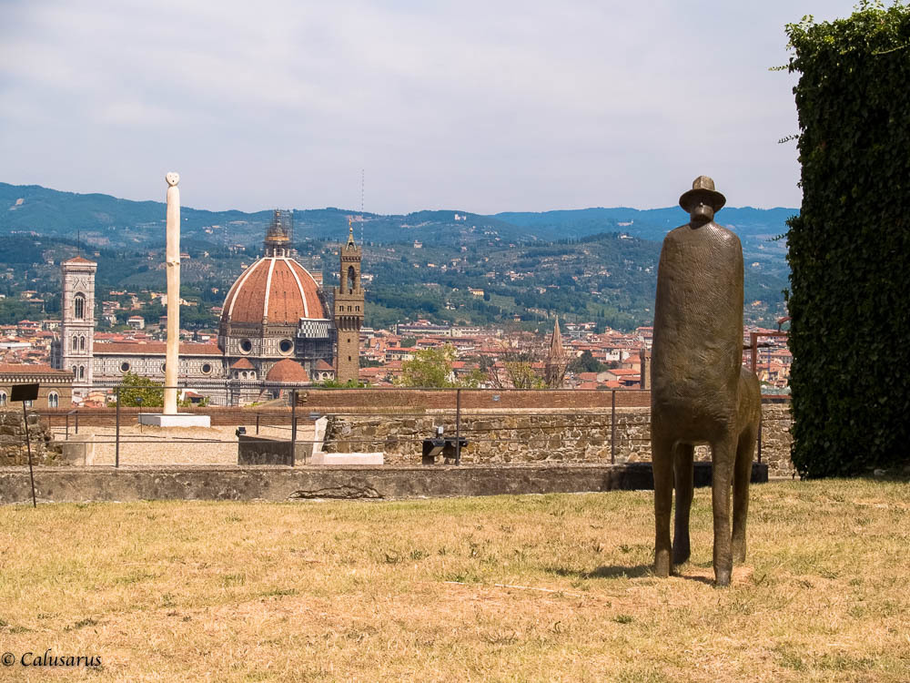Paysage Florence statue