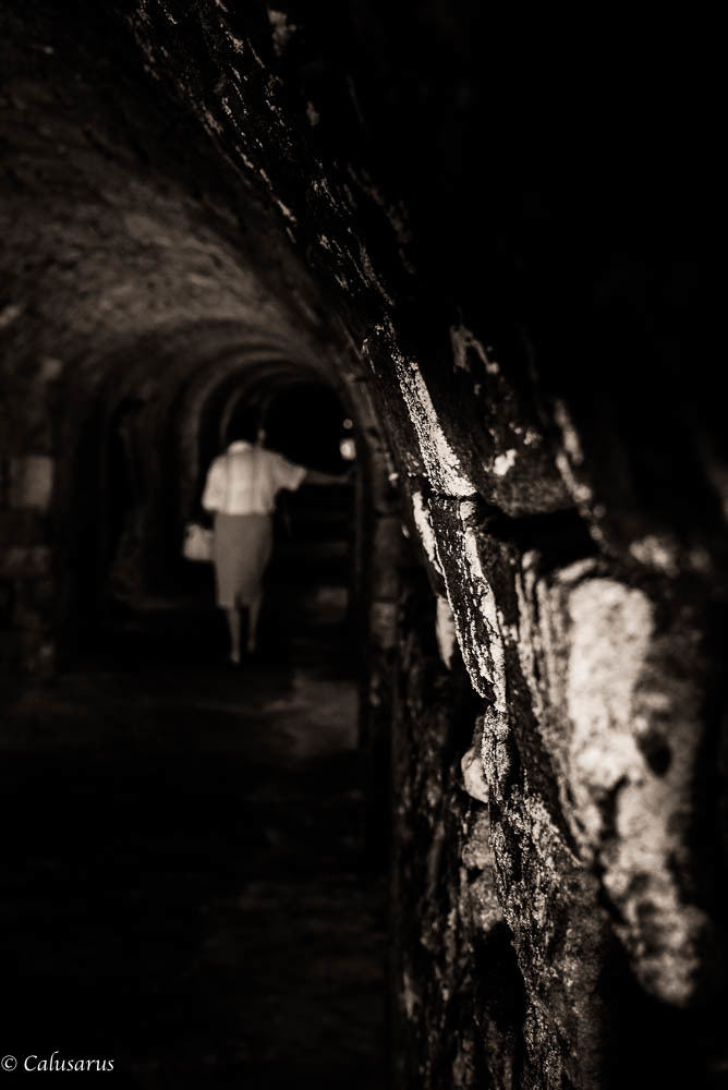 Corridor N&B Silhouette