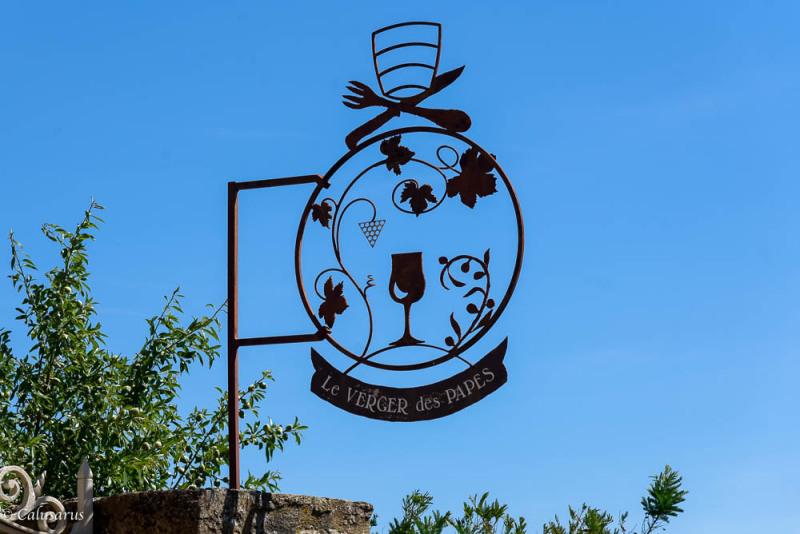 Enseigne Restaurant Chateauneuf-du-pape