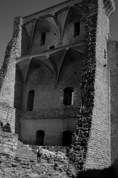 Architecture N&B Chateau ruine Vaucluse