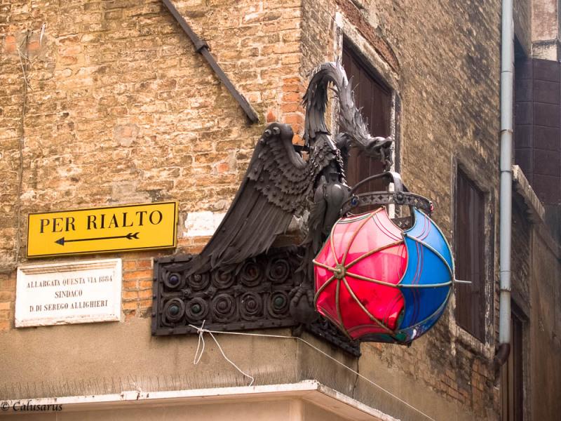 Enseigne Venise Italie