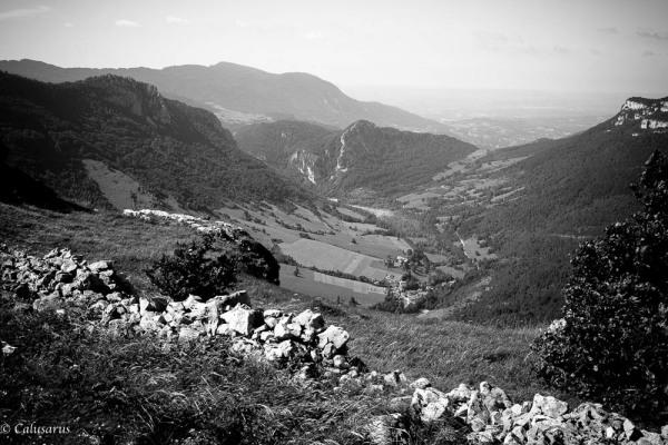 Paysage Drome Montagne Leoncel N&B