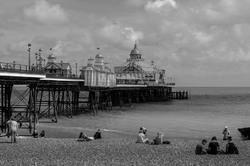 Paysage Angleterre Mer Silhouette Mer N&B