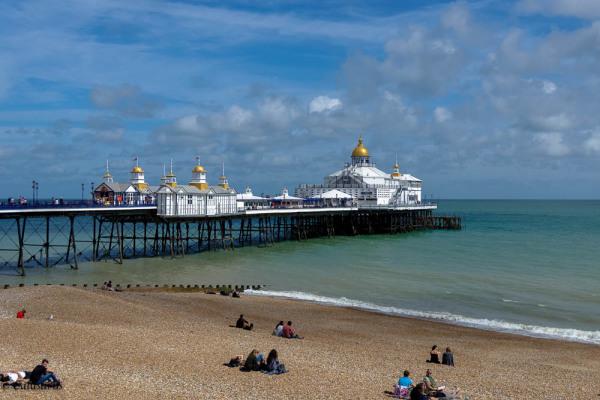 Plage Eastbourne Pier Silhouette Paysage