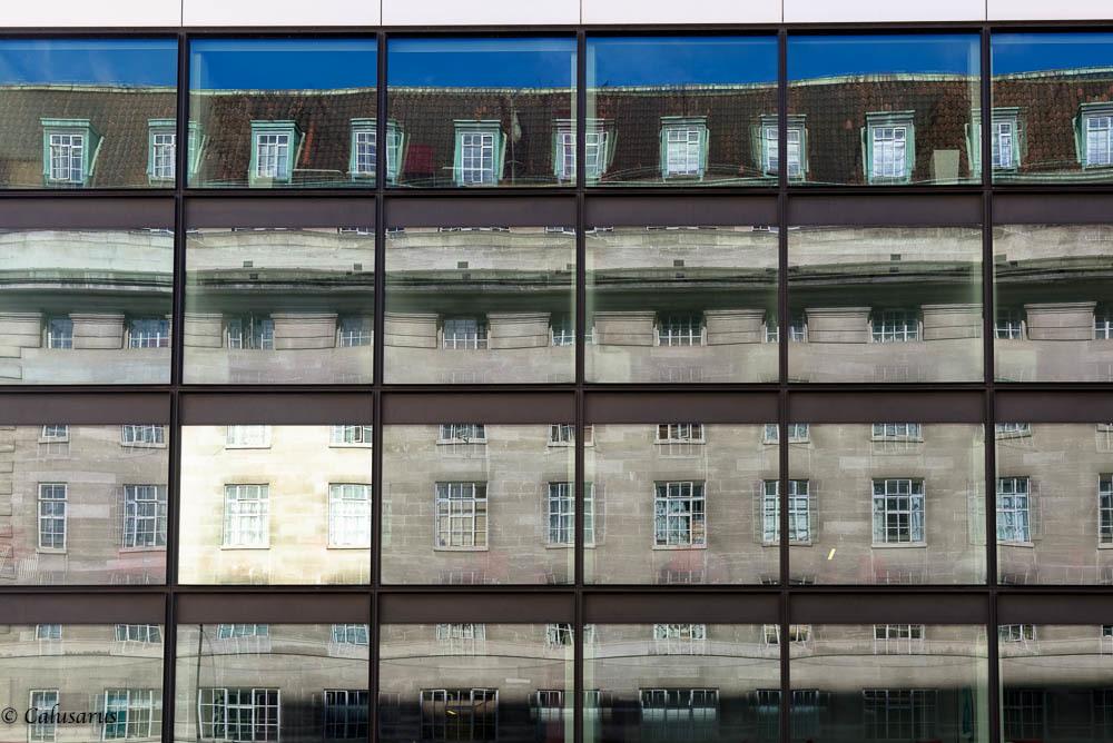 Londres reflet fenetres