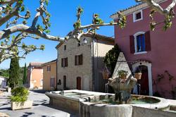 Paysage ville arbre Vaucluse fontaine