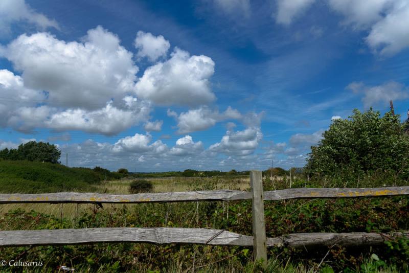Pevensey paysage Sussex UK