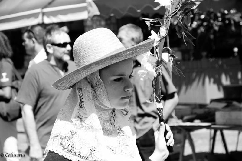 Portrait femme N&B Romans-sur-Isere Drome 26