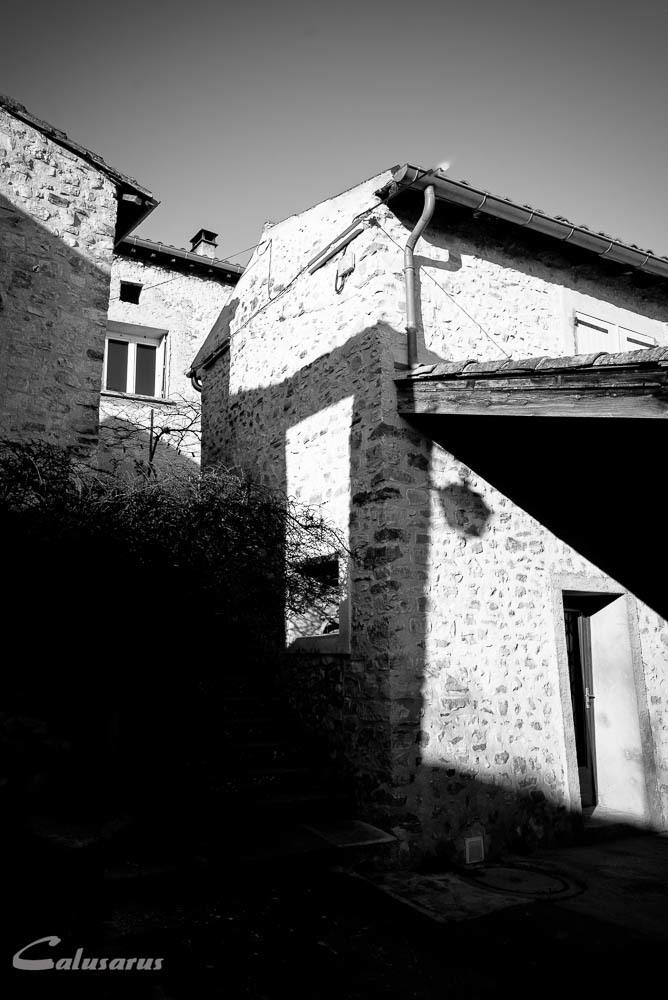 Lumiere ombre N&B Drome Architecture Montclar 26