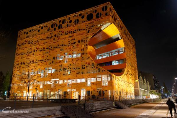 Architecture Lyon nuit