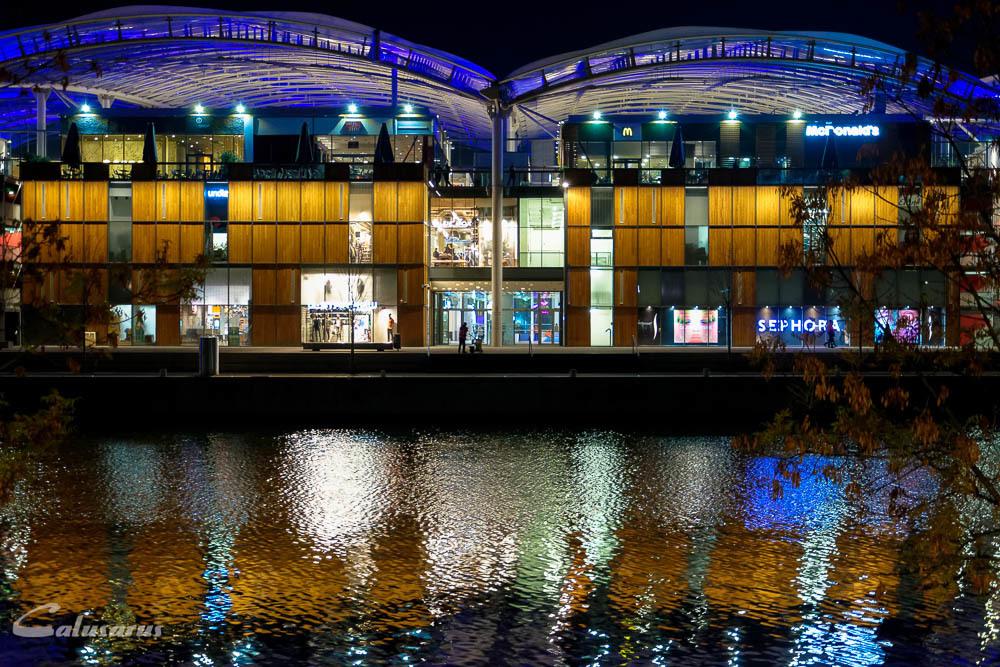 Lyon nuit ville reflet paysage
