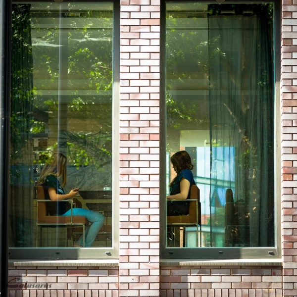 Londres fenêtre silhouette