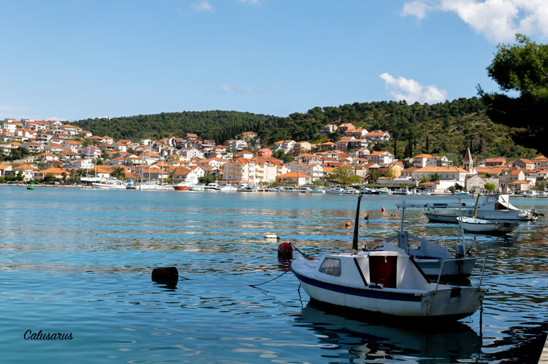 Paysage Mer Croatie Bateau