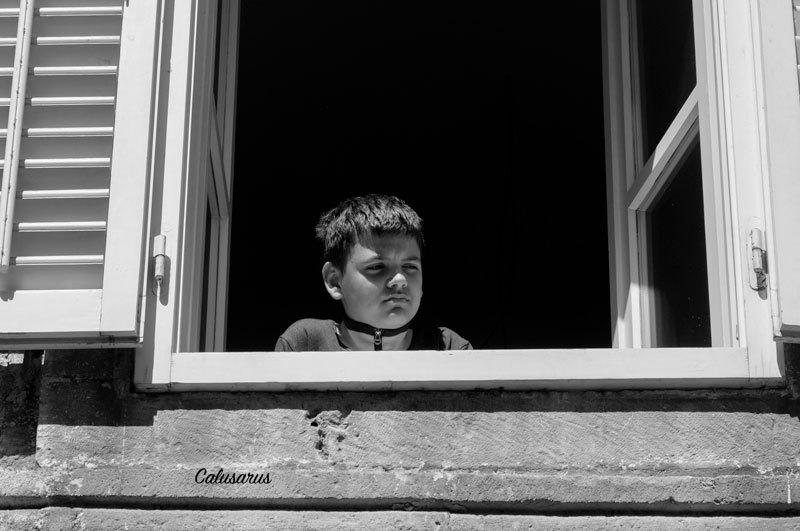 Portrait Enfant N&B Croatie