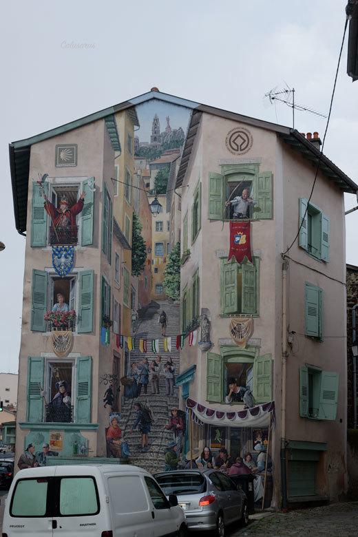 Paysage Urbain Mur Graffiti