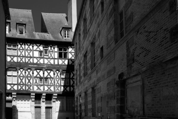 Moulins architecture N&B