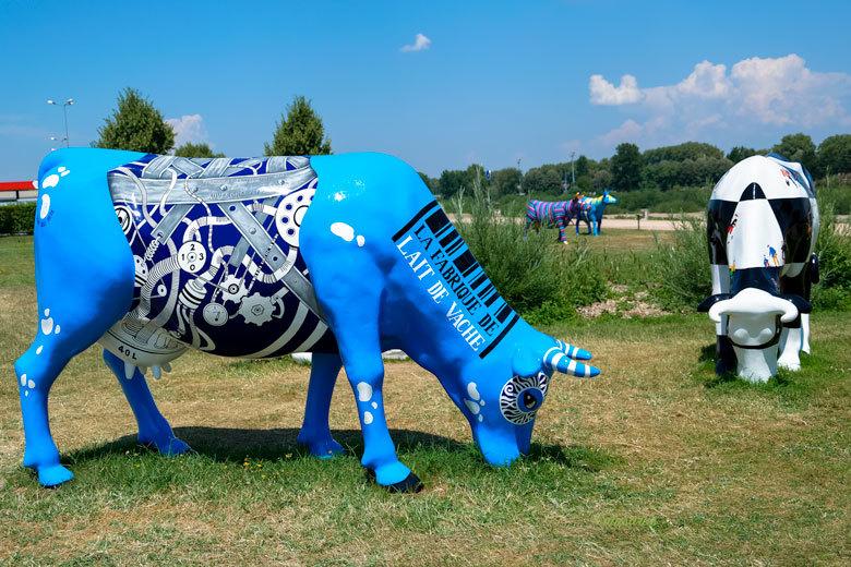 Vache Moulins Paysage