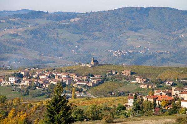 Paysage village Rhone