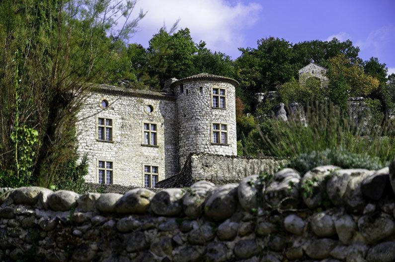 Paysage Chateau Vogue Ardeche