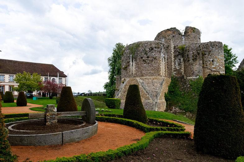 Architecture Ruine Chateau Conches Eure