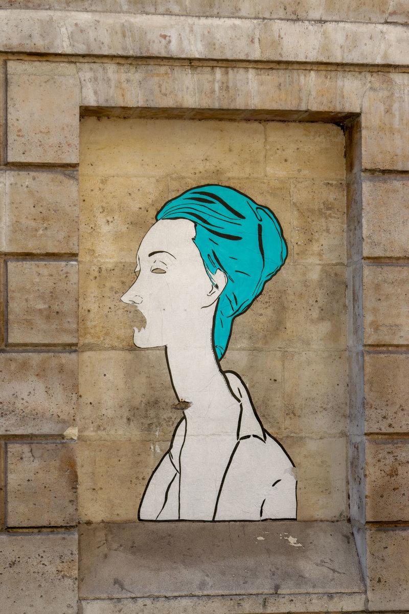 Paris Graffiti Mur portrait