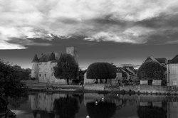 Chateau N&B Paysage Reflet