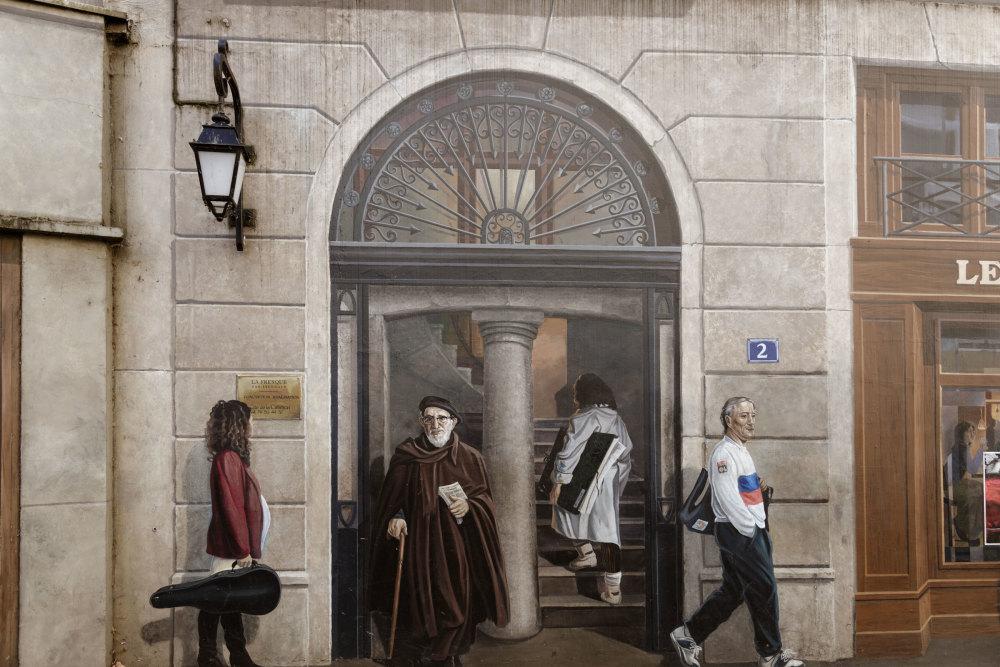 Lyon Trompe-l'oeil Silhouette Personne