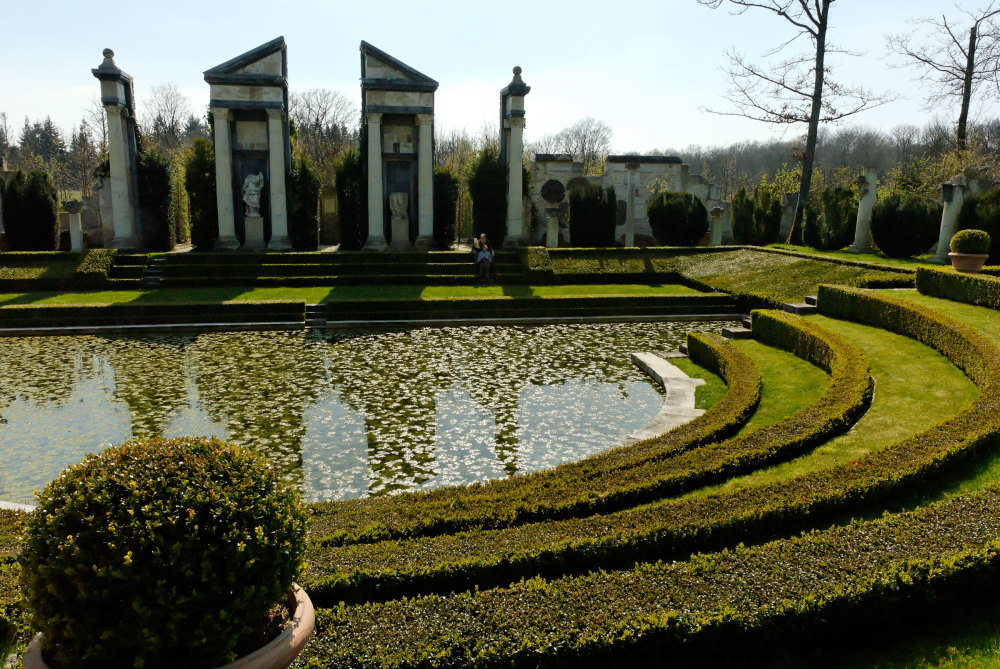 Eure Jardin Topiaire Architecture Ruines