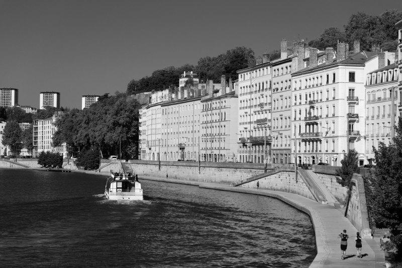 Lyon Paysage N&B Riviere