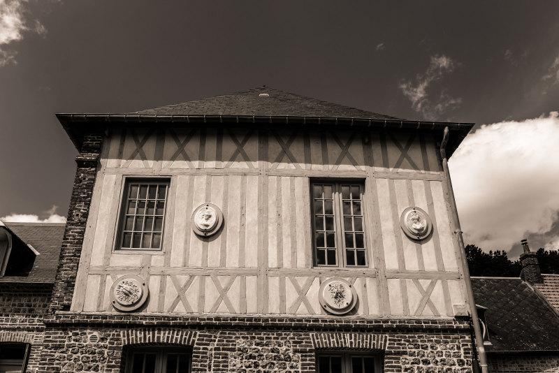Architecture N&B Bâtiment Seine-Maritime