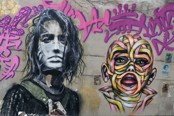 Paris Graffiti Art Portrait
