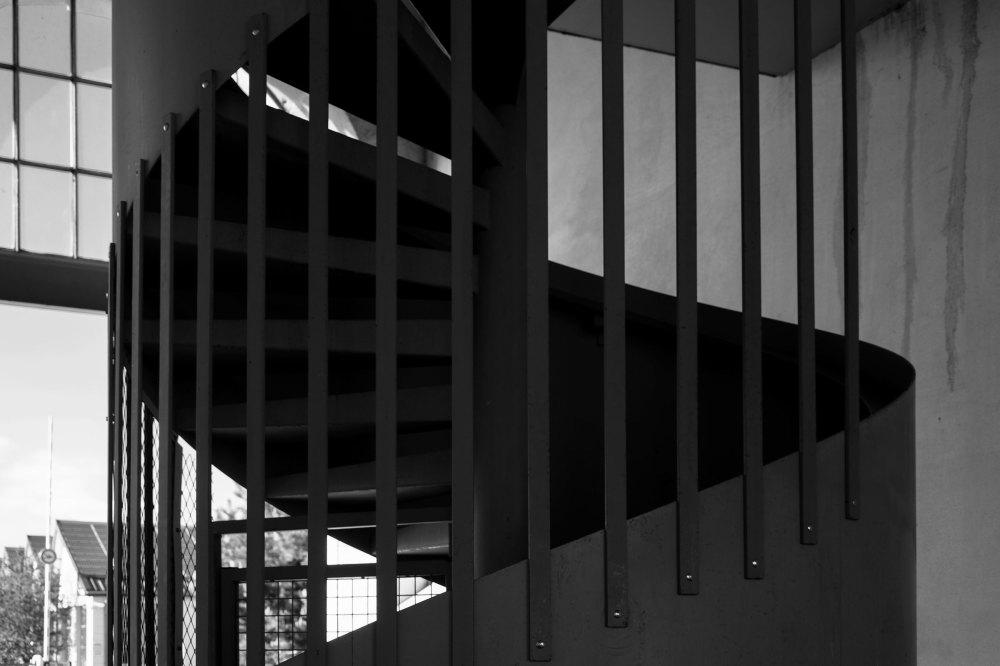 Escalier N&B Loire