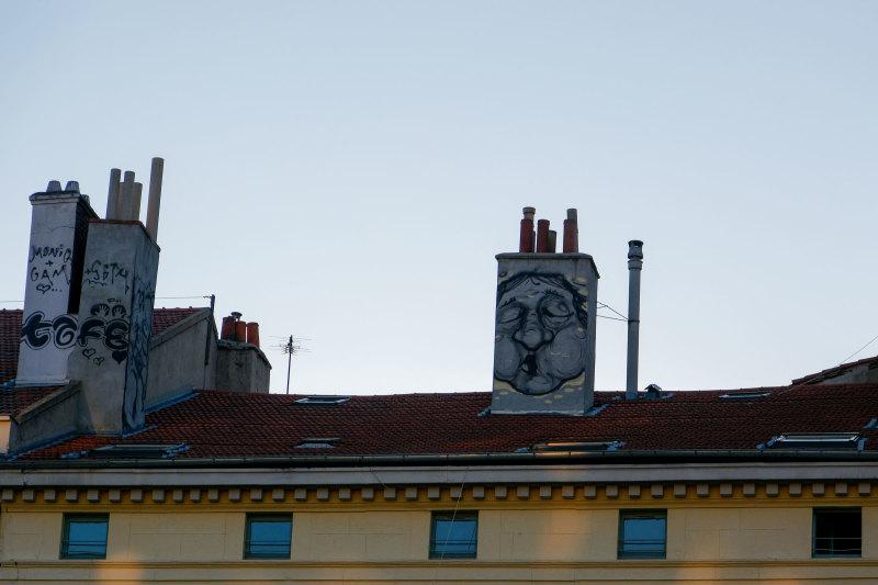 Graffiti Portrait Loire Cheminée