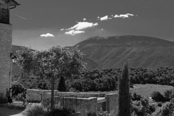 Paysage Vaucluse Montagne N&B
