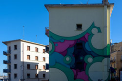 Architecture art Peinture mur Ciel
