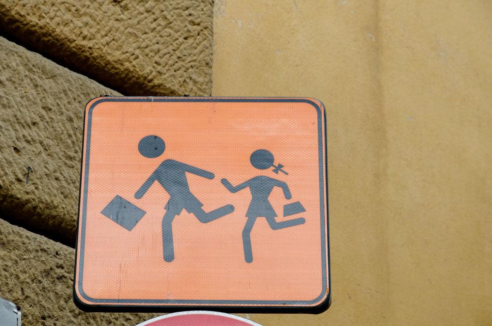 Panneau Ecole Rentrée Italie
