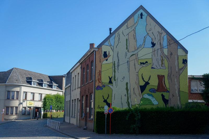 Mur peinture Belgique