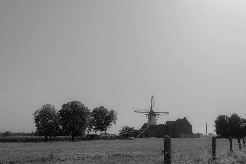 Moulin N&B Paysage Belgique