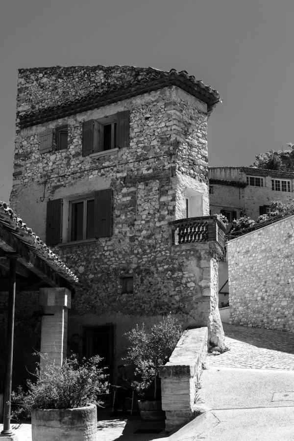 Architecture Gigondas N&B Vaucluse