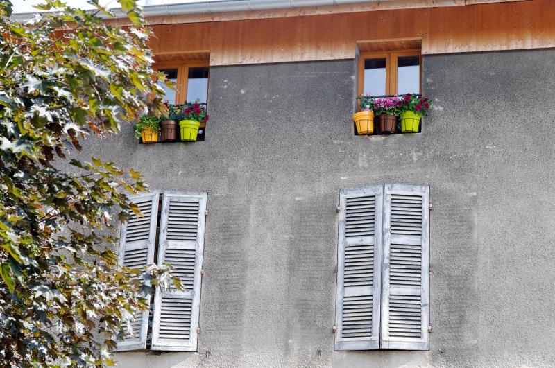 Architecture Fenêtre Fleurs Isere