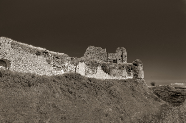 Architecture N&B Ruine Chateau Paysage