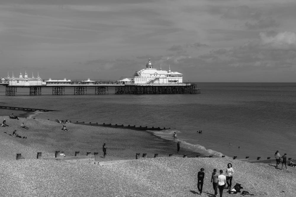 Paysage UK N&B Jetée Sussex