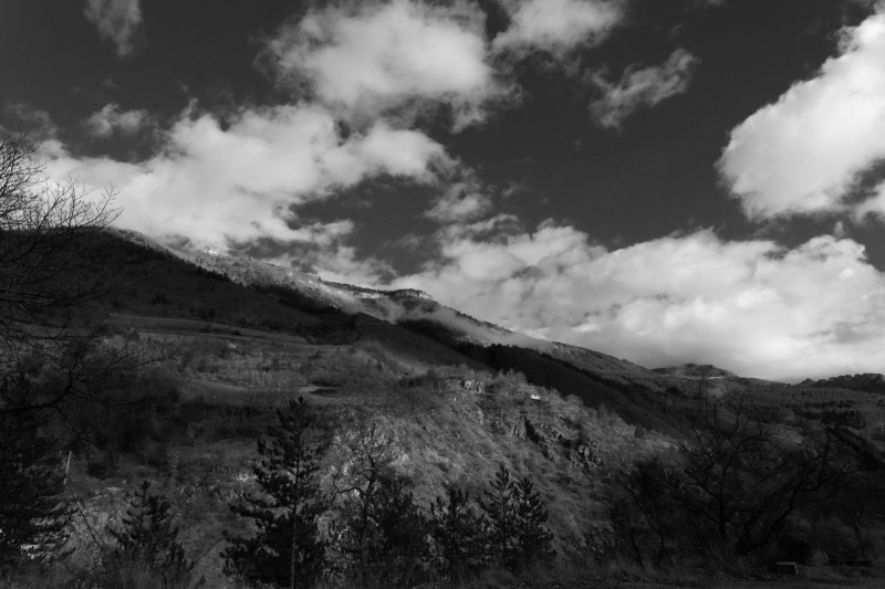 Drome 26 Paysage N&B Montagne