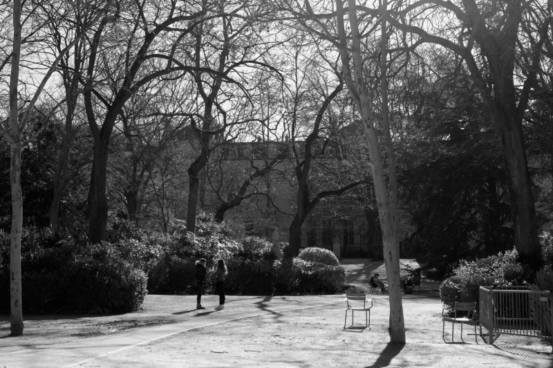 Paris N&B Silhouette Paysage