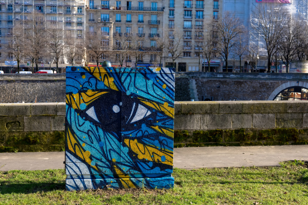 Paris Paysage Graffiti