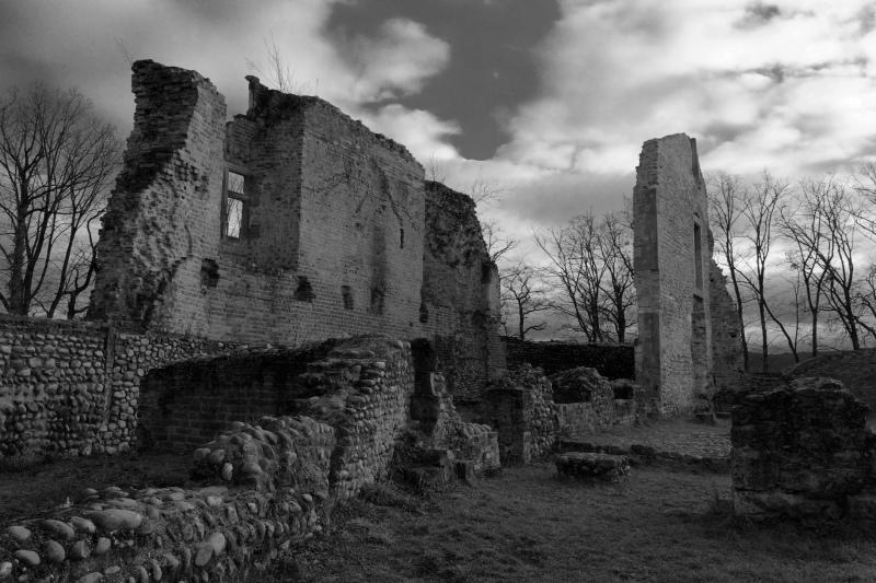 Isere Chateau Castle Ruine N&B BnW