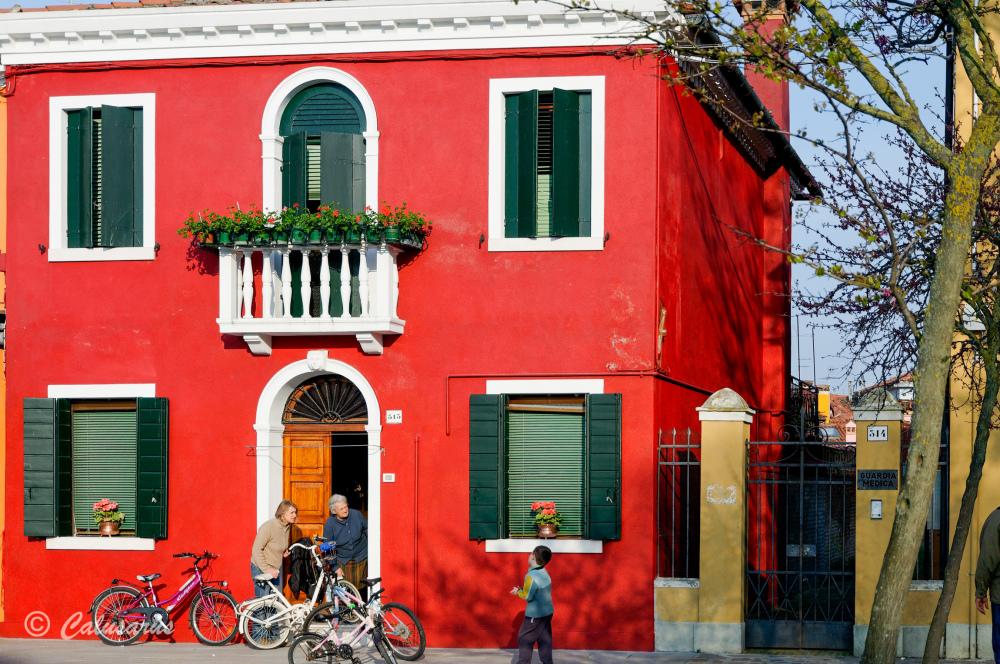 Italie Burano architecture Silhouette