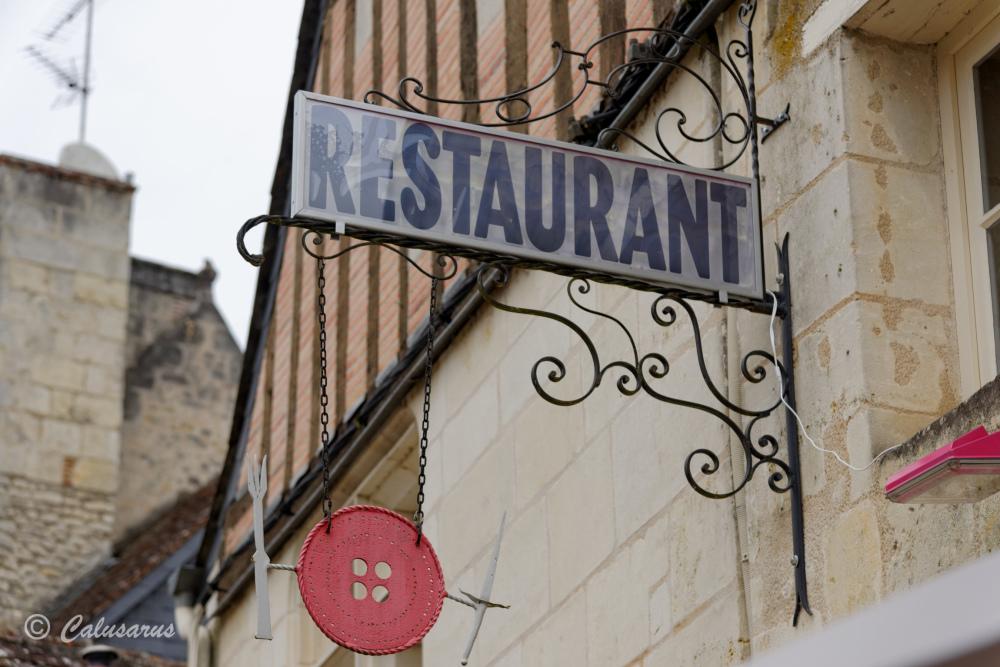 Enseigne Restaurant Beaux-arts Azay
