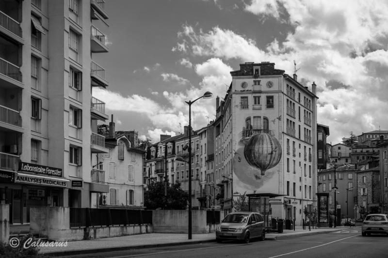 Paysage N&B Architecture Ardeche Annonay
