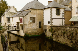 Paysage ville Bayuex Riviere